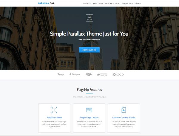 Parallax ONE Theme