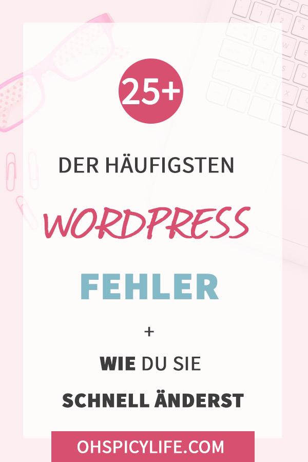 haeufigsten wordpress fehler
