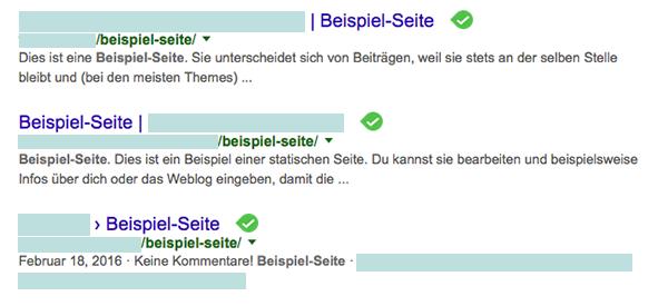 Wordpress Fehler Beispiel Seite
