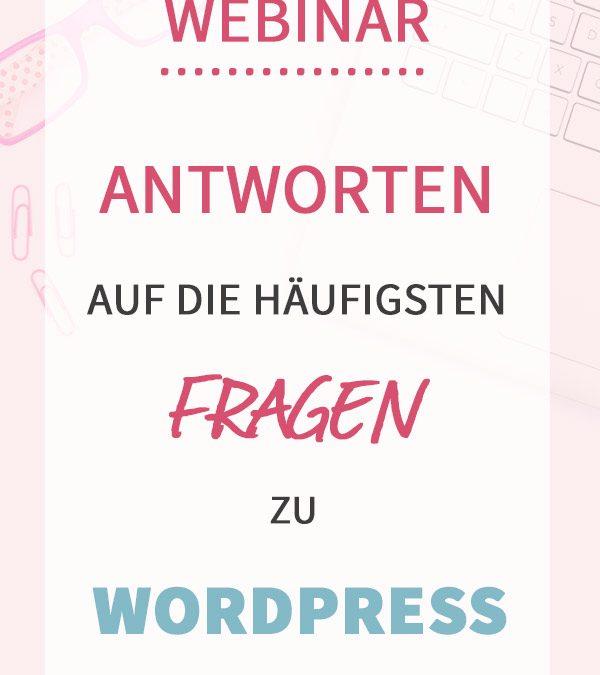 Webinar: Antworten auf die häufigsten Fragen rund um WordPress