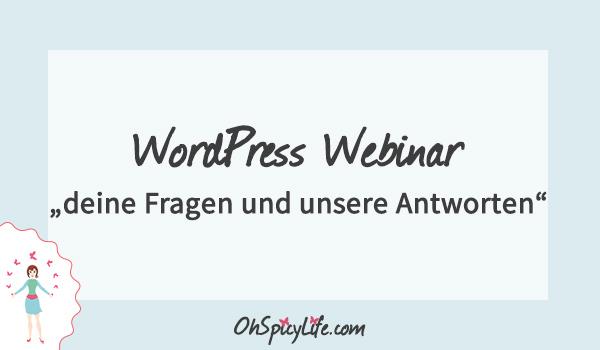 Webinar: deine Fragen rund um WordPress und unsere Antworten