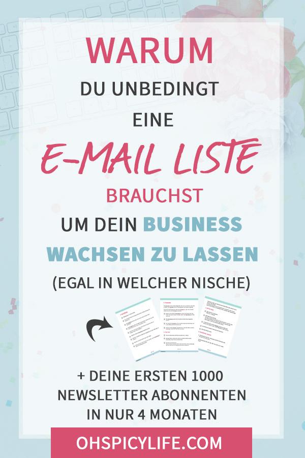warum du eine email liste brauchst