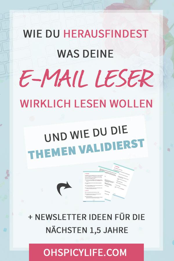 herausfinden was e-mail leser lesen wollen