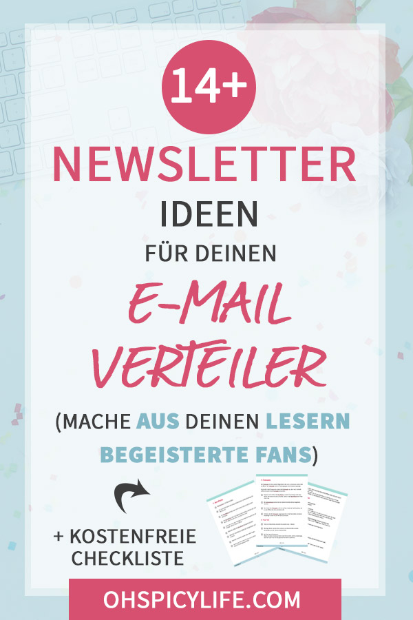 newsletter ideen e-mail verteiler