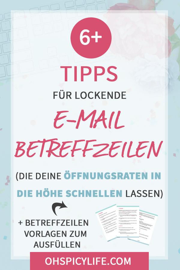 tipps email betreff zeilen hoehere oeffnungsraten