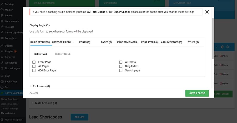 spezielle Eintragsformulare nur für bestimmte Kategorien, Tags, Beiträge und Seiten