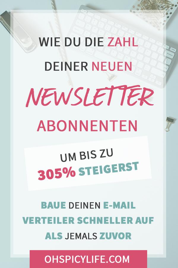 steigere zahl newsletter abonnenten e-mail verteiler