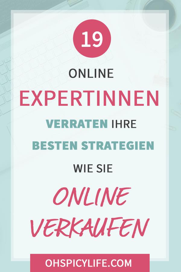 """19 Online Expertinnen verraten ihre besten Strategien, wie sie erfolgreich """"Online Verkaufen"""""""